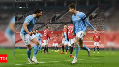 City win battle of Manchester to reach League Cup final | Football News - Times of India