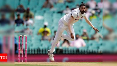 Compared to first two games, we will have to show a lot of patience on SCG pitch: Mohammed Siraj | Cricket News - Times of India
