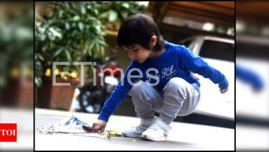 Exclusive photos: Kareena Kapoor and Saif Ali Khan's son Taimur Ali Khan celebrates Makar Sankranti with a kite - Times of India