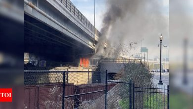 Fire in homeless camp prompts brief security scare at Capitol - Times of India