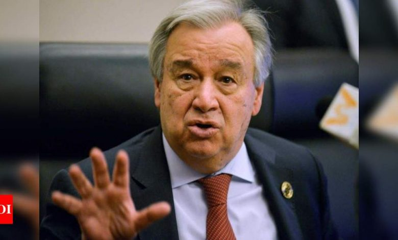 Guterres saddened by loss of life in fire at Serum Institute: UN spokesperson - Times of India