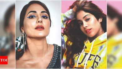 Hina Khan to Janhvi Kapoor: Stars rock the coloured eyeliner look - Times of India
