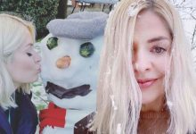 Holly Willoughby divides fans over family snowman decorated with snacks: