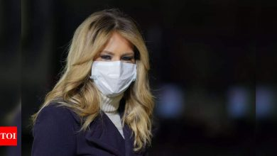 In farewell video, Melania Trump says be passionate, but not violent - Times of India