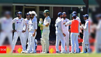 India vs Australia: Paine joins Team India huddle, Langer calls him class act after racism mars Sydney Test | Cricket News - Times of India