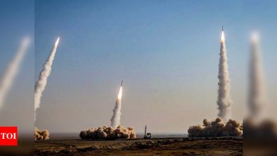 Iran tests ballistic missiles, drones in military exercise, state TV says - Times of India