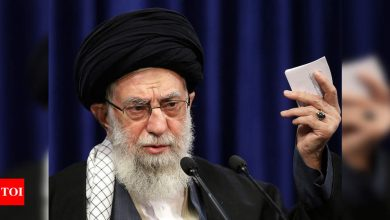 Iran's supreme leader account posts warning to Trump - Times of India