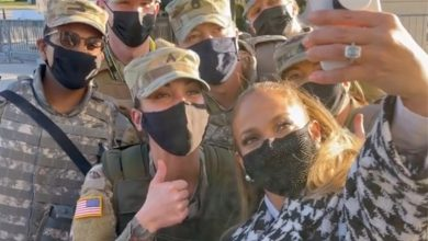 Jennifer Lopez honors 'brave' National Guard before inaugural gig