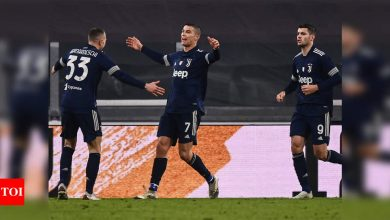 Juventus beat 10-man Sassuolo to move fourth in Serie A | Football News - Times of India