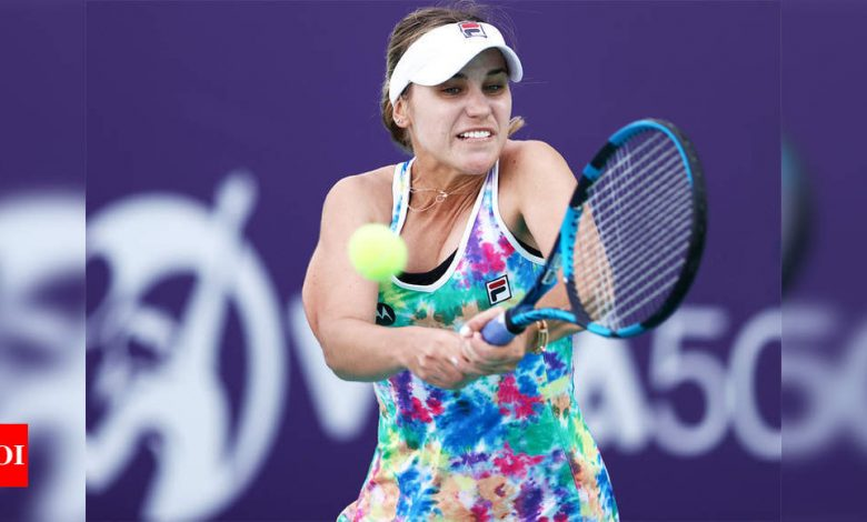 Kenin opens season with win over Yang at Abu Dhabi Open | Tennis News - Times of India