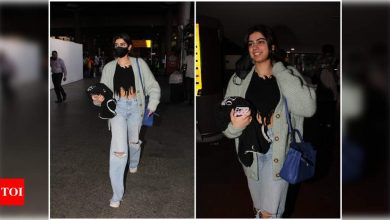 Khushi Kapoor looks uber-cool as she gets clicked at the airport; see pics - Times of India