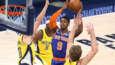 Knicks use balanced effort to clip Pacers in gritty road win