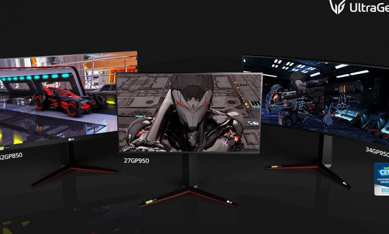 LG's new batch of gaming monitors includes 4K / 144Hz panel with HDMI 2.1
