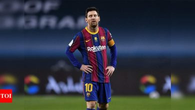 Lionel Messi suspended for two matches for hitting opponent   Football News - Times of India