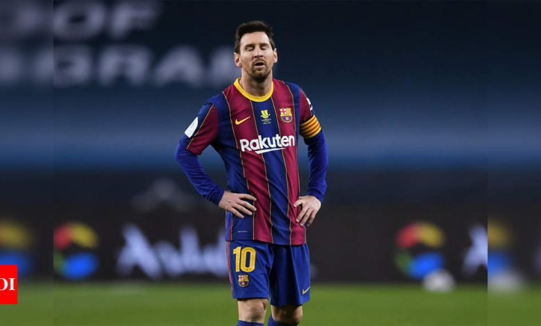 Lionel Messi suspended for two matches for hitting opponent | Football News - Times of India