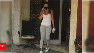 Malaika Arora stuns in an uber-cool athleisure as she gets snapped in the city post her workout session - view photos - Times of India