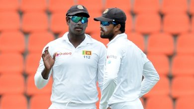Mathews, Chandimal boost for struggling Sri Lanka