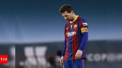 Messi facing lengthy suspension for hitting opponent | Football News - Times of India