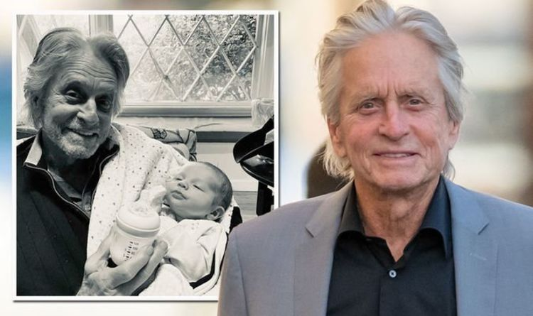 Michael Douglas finally meets grandson for first time as touching moment captured