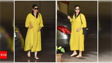 Mom-to-be Kareena Kapoor Khan opts for a stunning yellow outfit as she steps out in the city - view photos - Times of India