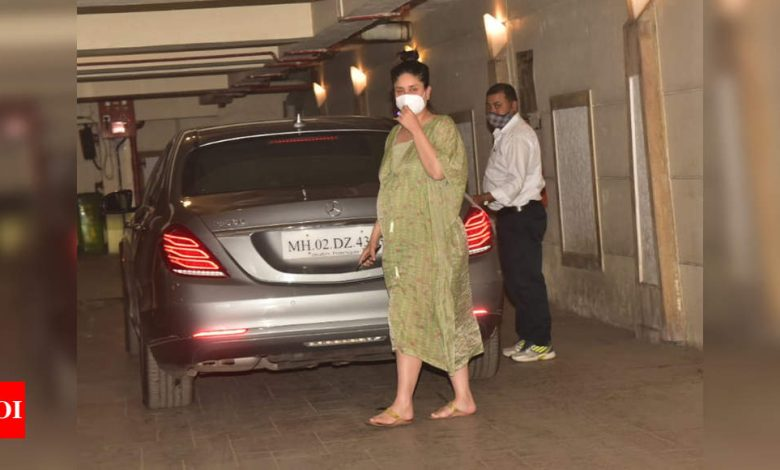 Mom-to-be Kareena Kapoor Khan rocks a breezy kaftan for a recent outing - Times of India