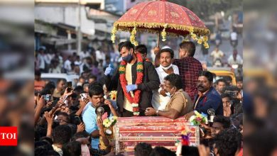 Natarajan receives 'hero's welcome' at native village Salem | Cricket News - Times of India