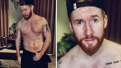 Neil Jones: Strictly pro shares topless pics saying he put on a lot of weight in lockdown