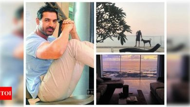 Pictures and videos that will give you a glimpse of John Abraham's sea-view apartment in Mumbai - Times of India