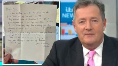 Piers Morgan reduced to tears by GMB viewer's letter 'You never know who's watching'