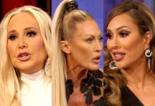 """RHOC Reunion Part 1 Recap: Shannon Suggests Braunwyn Offered Drugs to Her Daughter and Denies Being an Alcoholic, Plus Kelly Slams Braunwyn's Sobriety as """"Fake"""""""