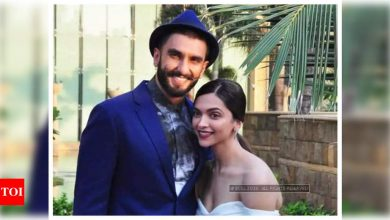 "Ranveer Singh shares an adorable picture of wife Deepika Padukone on her birthday, calls her ""my jaan, my life, my gudiya"" - Times of India"