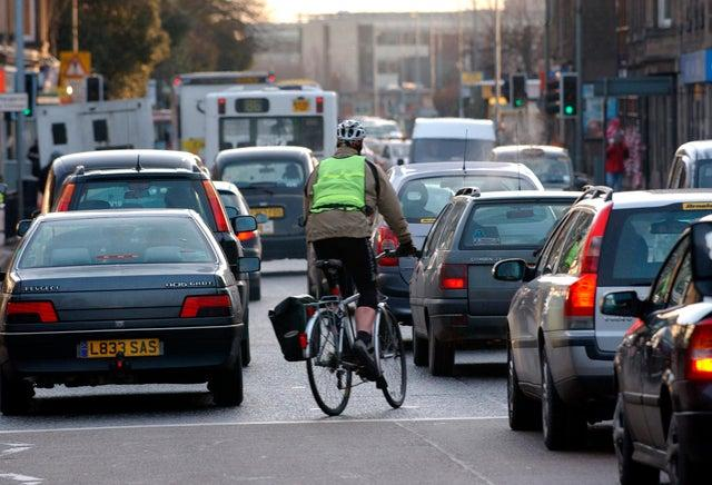 Traffic levels across the country are higher than during the first lockdown imposed in March last year.