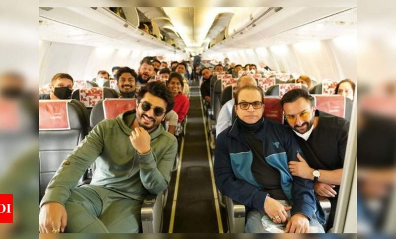 Saif Ali Khan, Arjun Kapoor head to Jaisalmer for the final schedule of 'Bhoot Police' - Times of India