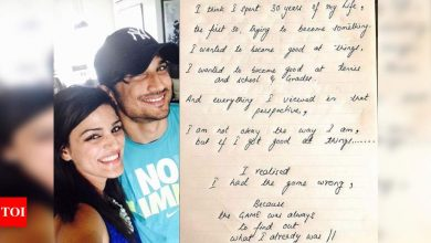 Shweta Singh Kirti shares a note written by the late actor Sushant Singh Rajput - Times of India