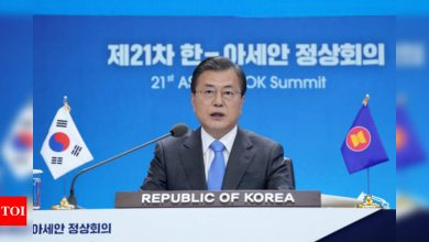 South Korea's President Moon: 'America is back' - Times of India