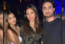 Suhana Khan shares a glamorous throwback picture with her 'babysitters' - Times of India