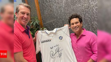 Tendulkar lends support to McGrath's 'Pink Test' initiative   Cricket News - Times of India