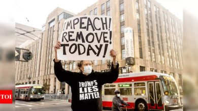 Trump protest outside Twitter HQ over ban flops - Times of India