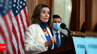 US House speaker Pelosi's office damaged during Capitol riot - Times of India
