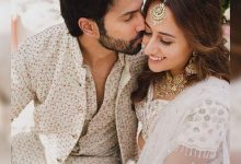 Varun Dhawan and Natasha Dalal twinned in white for their Mehendi ceremony – view pics - Times of India