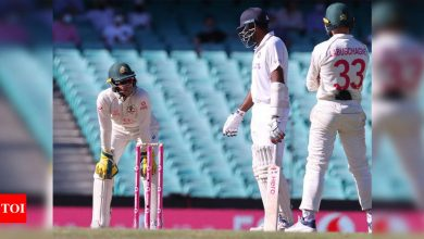 WATCH: Ashwin's strong response to Tim Paine's constant chatter behind the stumps | Cricket News - Times of India