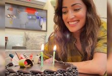 Yami Gautam wraps up the shoot of 'Bhoot Police', celebrates it with a cake - Times of India