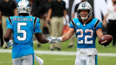 Christian McCaffrey scolds reporter after being thrown into NFL's QB drama