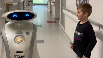 This cleaning robot could help fight COVID-19 — and tell jokes