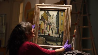 'Socially distanced' Lowry work goes on show as part of St Andrews exhibition