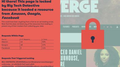 A new browser extension blocks any websites that use Google, Facebook, Microsoft, or Amazon