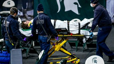 Referee hospitalized in freak accident after Rutgers basketball game