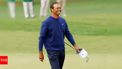"""Tiger Woods in """"good spirits"""" after follow up treatment for leg injuries   Golf News - Times of India"""