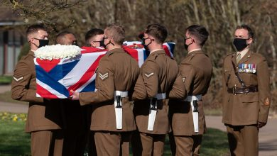 Tributes paid at funeral of Captain Sir Tom Moore