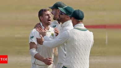 2nd Test: Nortje takes five-for to restrict Pakistan, but hosts fight back | Cricket News - Times of India